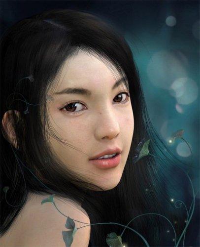 Цифровые рисунки девушек. Красивые картинки