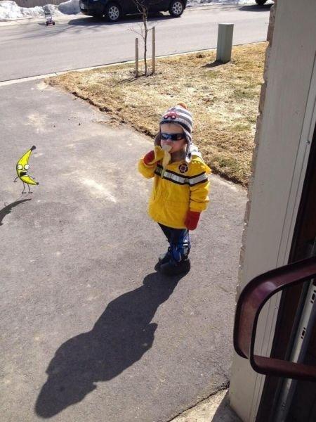Фотожабы на мальчика с бананом. Прикол дня