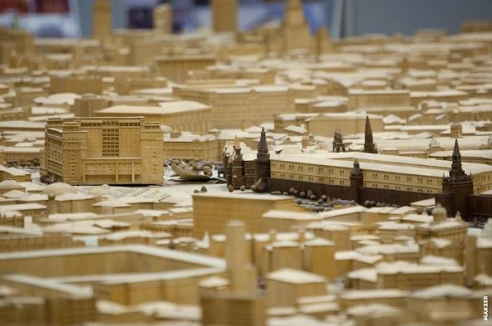 Реалистичный макет Москвы. Столица России