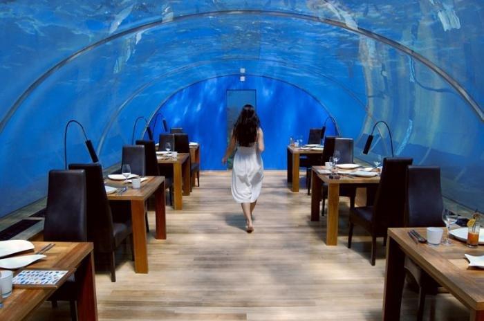 Подводный ресторан на Мальдивах. Путешествия по миру