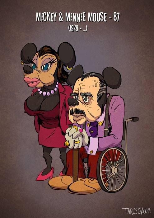 Персонажи Уолта Диснея в старости