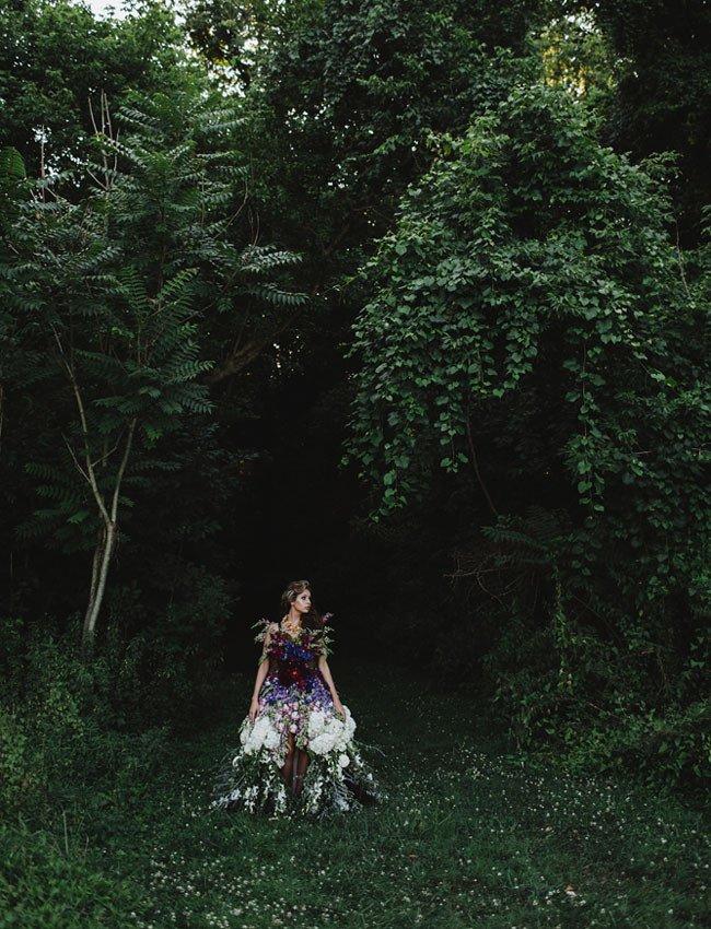 Восхитительное платье из цветов