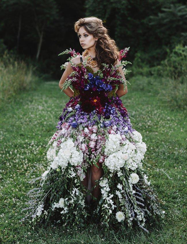 Платье сшила из цветов 647