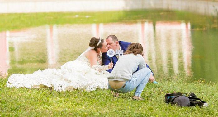 Прикольные свадебные фотки