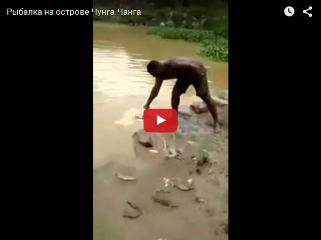 Рыбалка без удочки и крючка на кусок мяса