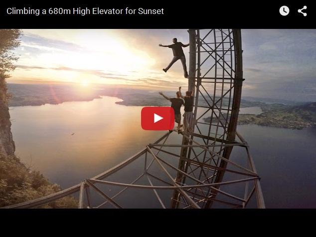 Экстремальное видео. Как залезть на высоту 680 метров