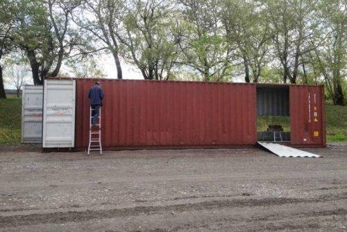 Хороший дом из контейнеров. Красивые картинки