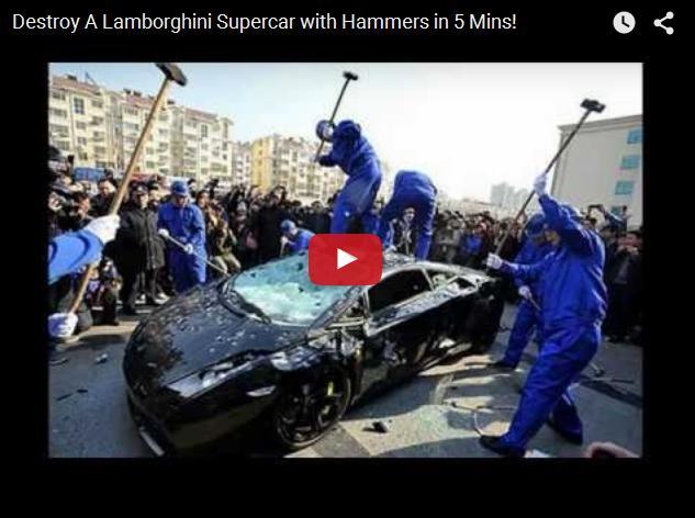 Как уничтожить суперкар за пять минут. Китайский опыт