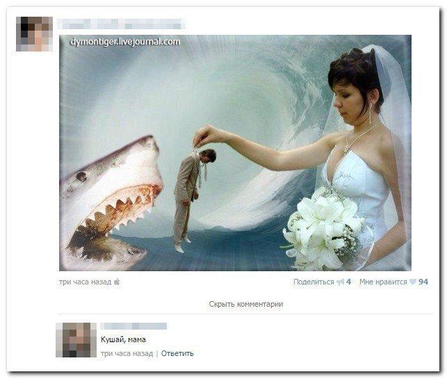 Скриншоты из социальных сетей. Приколы с надписями