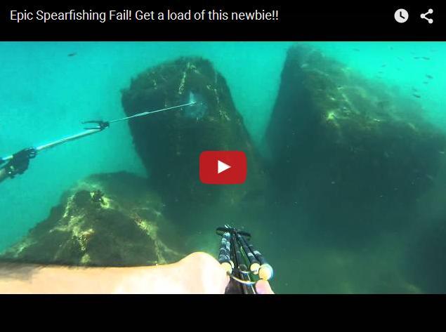 Пуленепробиваемая рыба. Прикольное видео с подводной охоты