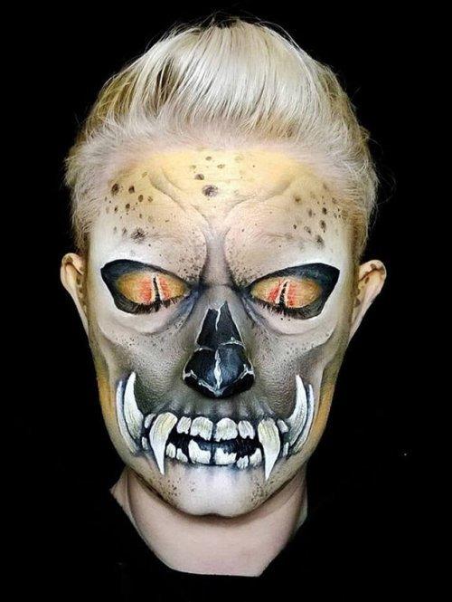Шикарный грим на Хеллоуин. Красивые фото