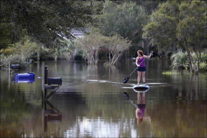 Последствия наводнения в Южной Каролине. Катастрофические фото