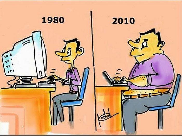 Интересные сравнительные картинки о будущем и настоящем