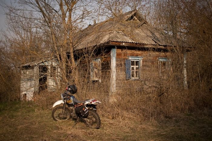 Путешествие по Чернобылю на мотоцикле