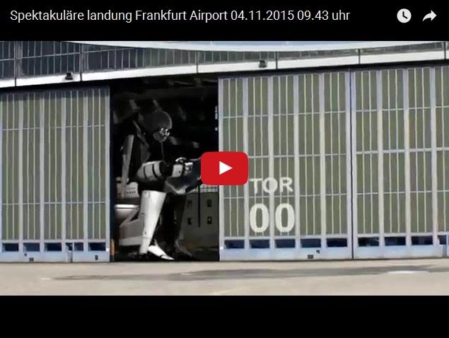 Прижало - необычная посадка самолета во Франкфурте