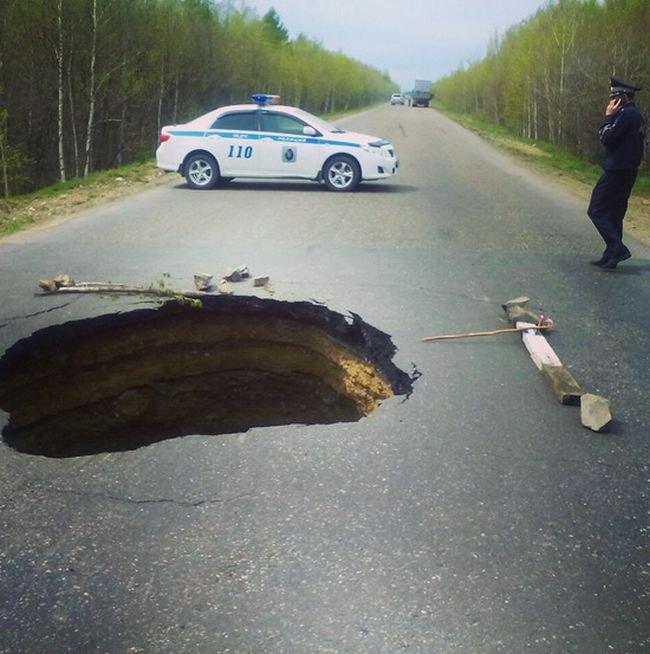 Ужас российских дорог. Фото из социальных сетей