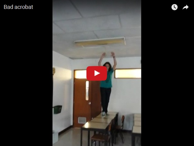 Опасная школьная акробатика