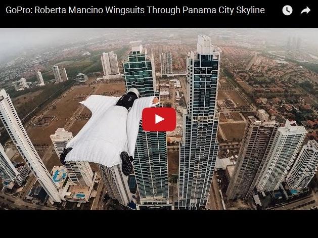 Экстремальный полет между двумя небоскребами