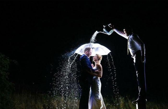 Свадебные фотобомбы. Прикольные картинки