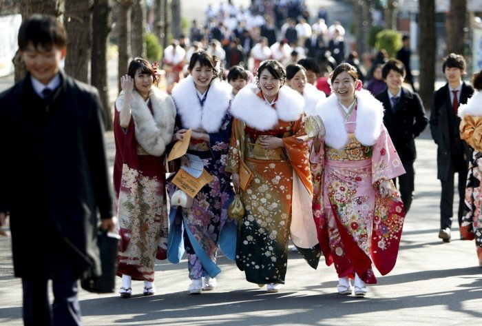 Празднование совершеннолетия в Японии