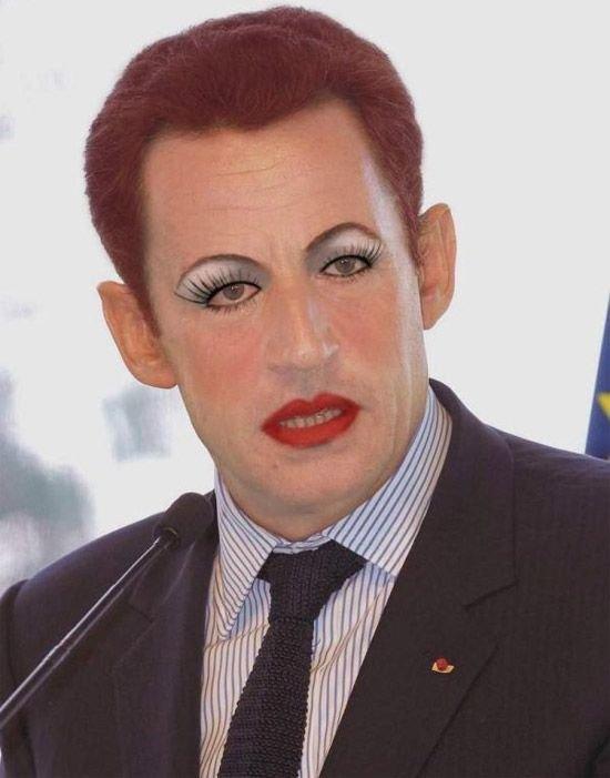 Весёлые фотожабы на политиков. Макияж или фотошоп?
