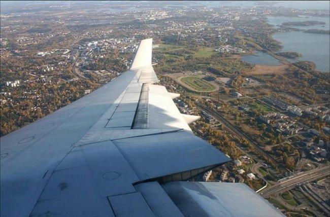 Во время полёта в самолёте. Красивые фотографии
