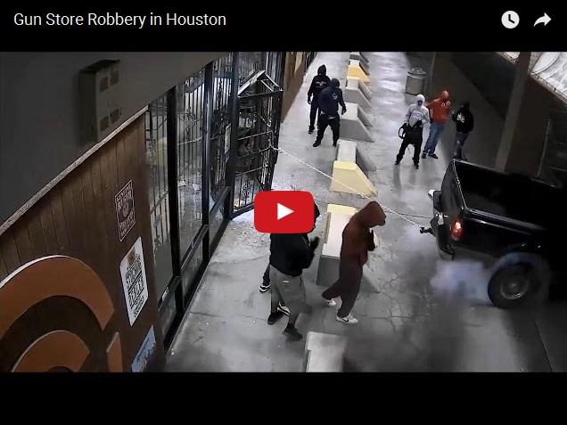 Дерзкое ограбление оружейного магазина в США