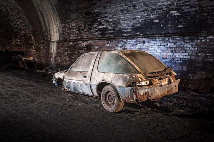 Заброшенный железнодорожный тоннель в Ливерпуле