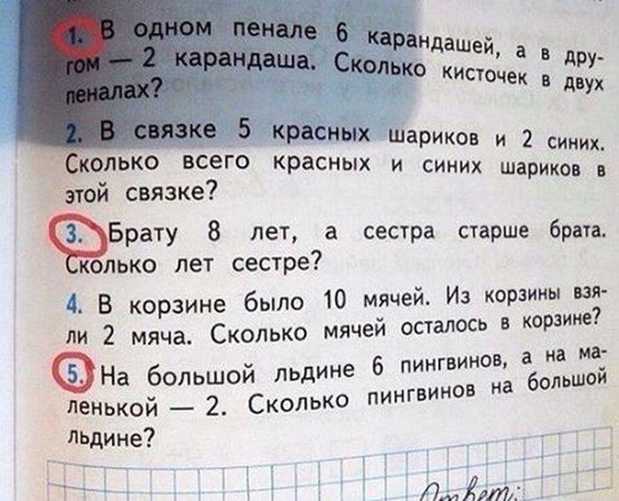 Приколы в учебниках. Современное образование