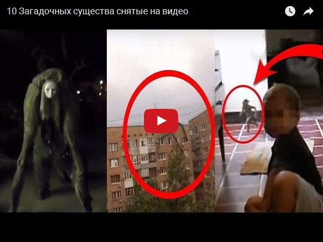 Самые загадочные существа, снятые на видео