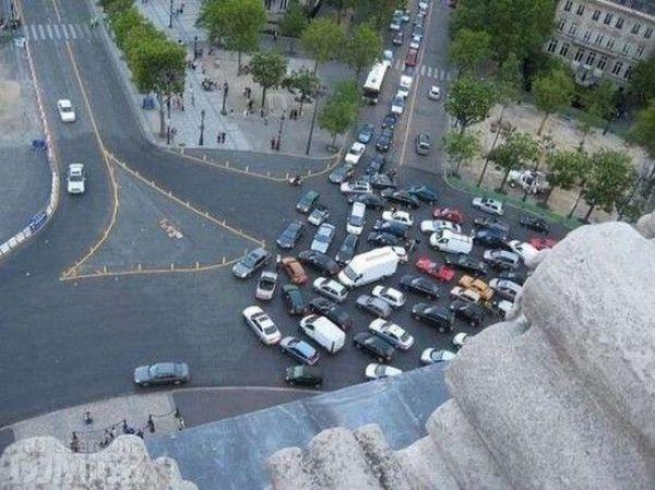Автомобильные пробки - вид сверху