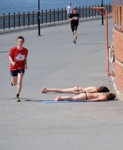Картинки про пробежку. Спорт - это жизнь