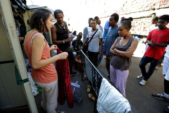 Африканские мигранты в Италии. Беженцы в Риме