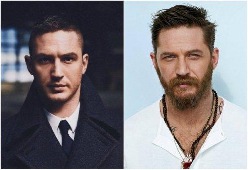 Знаменитости с бородой и без бороды. Интересные фото