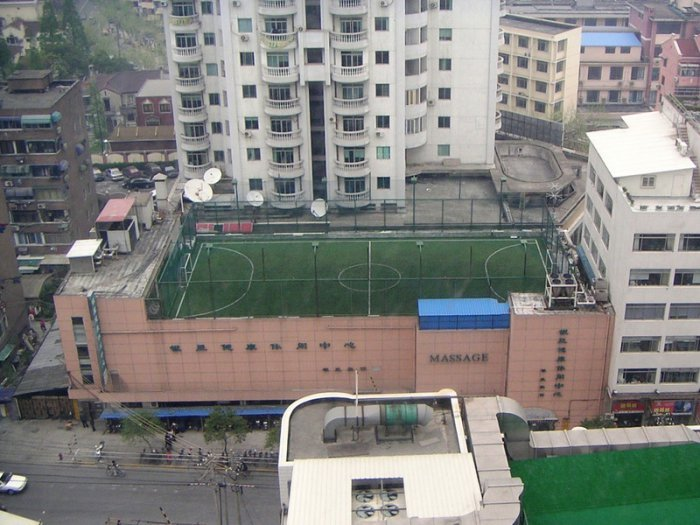 Необычные футбольные поля. Интересные фото