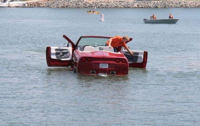 Неплохая идея: лодка-автомобиль. Интересные фото