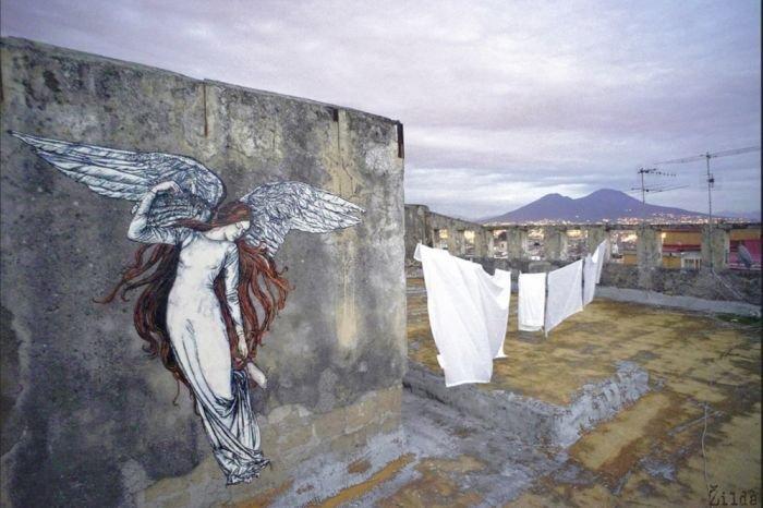 Красивые рисунки на стенах. Уличное искусство