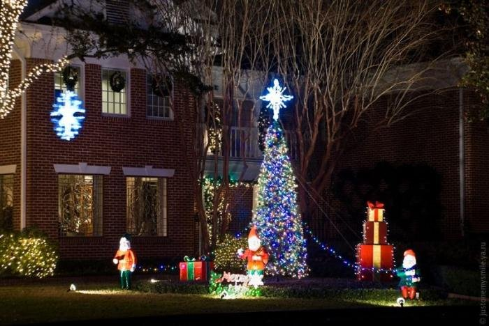 Рождественские огни жителей США. Красивые картинки