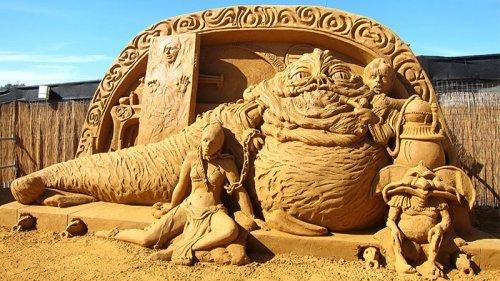 Красивые песочные скульптуры. Восхитительные фото