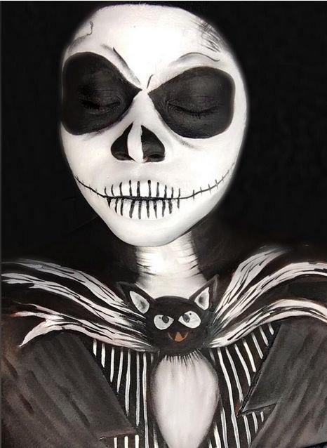Удивительный грим на Хэллоуин. Прикольные картинки