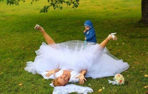 Прикольные свадебные фотографии. Смешной пост