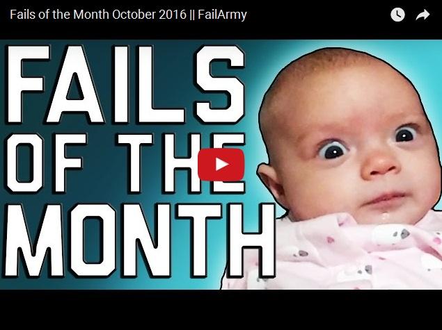 Самая лучшая подборка неудач и эпичных фейлов этого месяца