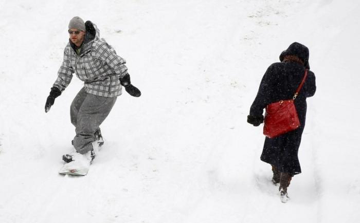 Прикольные зимние виды спорта. Смешные фото