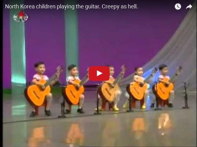 Прикольный ансамбль маленьких гитаристов из Северной Кореи