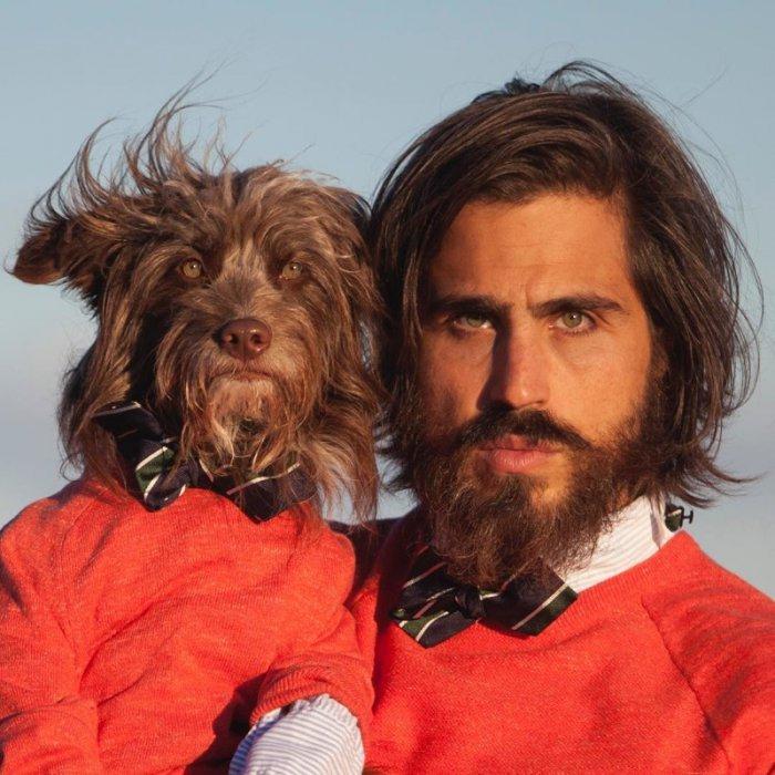 Когда пёс очень сильно похож на хозяина... Прикольный фотосет