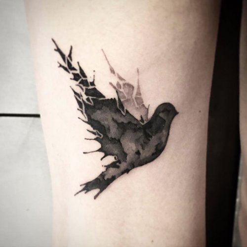 Красивые татуировки с птицами. Рисунки на теле
