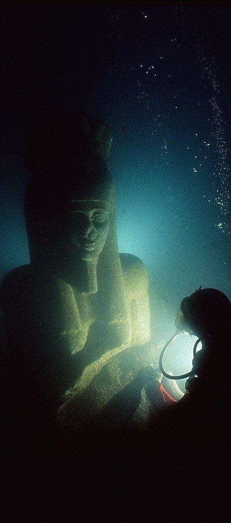 Египетские артефакты, пролежавшие под водой 1200 лет