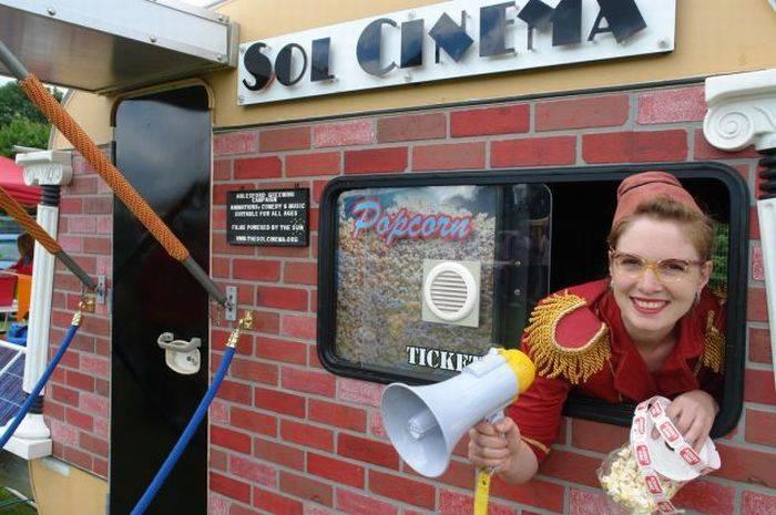 Прикольный походный мини-кинотеатр на 8 человек