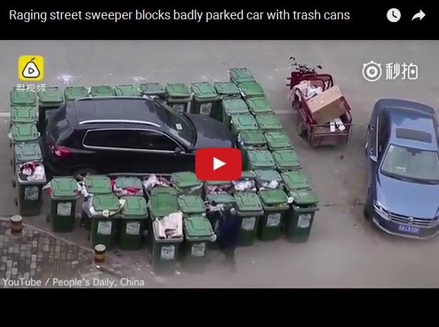 Тот момент, когда лучше не злить китайского мусорщика