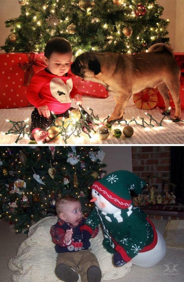 Новогодние фотосессии малышей - ожидание и реальность
